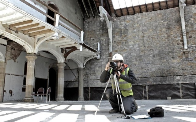 Historic building recording (copyright Headland Archaeology)