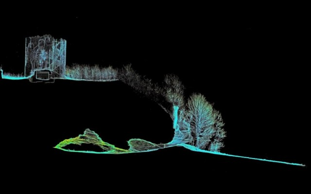 Laser scanned section at Weymss Caves (copyright Marcus Abbott)